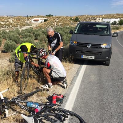 Cycling tours in Andalusia – Car assistance