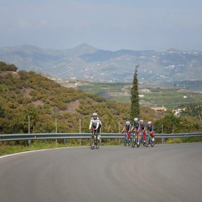 Road bike training in Malaga