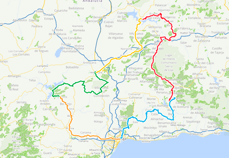 Cycling routes in Andalusia – 5 day cycling loop Andalusia North