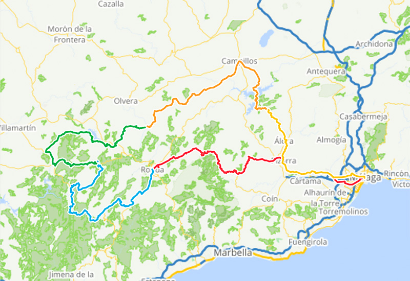 Cycling routes in Andalusia – 5 day cycling loop Andalusia West