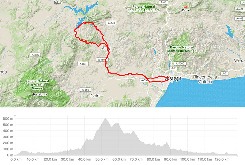 Guided bike tour from Malaga to El Chorro