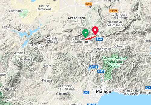 Ideas for cycling around Malaga – Road bike route Puerto del Barco