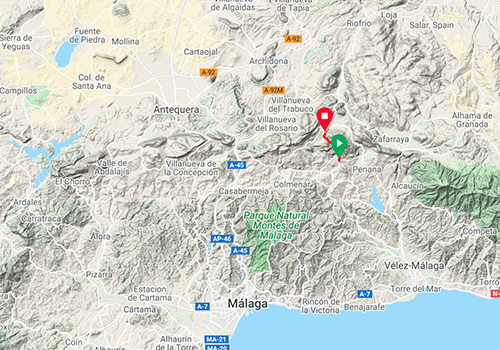 Cycling routes and maps around Malaga – Mountain pass Cuesta del Chino