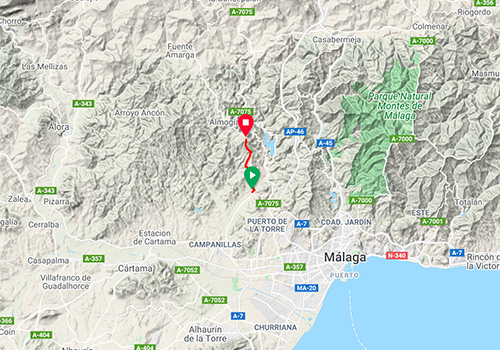 Routes and maps for cycling in Malaga – Mountain pass Alto de la Venta la Gloria / Los Núñez